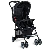 5-Point Safety System Foldable Lightweight Baby Stroller Black