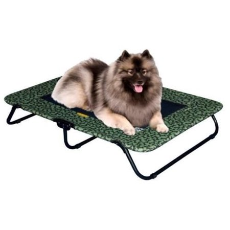 Raised Dog Bed Extra Large Elevated Cot Outdoor Pet Pg6250bsg Sage Bone 50 L X 35 W 6 H