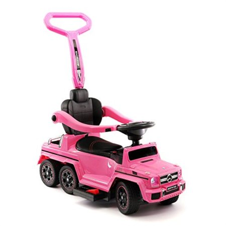 Moderno Kids Mercedes G63 AMG 6X6 Toddler Push Car Stroller Convertible to Foot to Floor Toy or Battery Powered Children (Mercedes G63 Amg 6x6 Price In Usa)