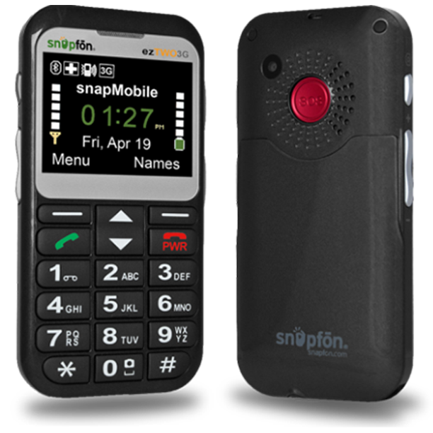 Snapfon Eztwo 3g Unlocked Gsm Senior Cell Phone Sos Button Hearing Aid Compatible Walmart Com Walmart Com