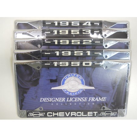 - Pick (1) 1950 1951 1952 1953 1954 Car Truck Chevy License Plate Tag Frame Holder