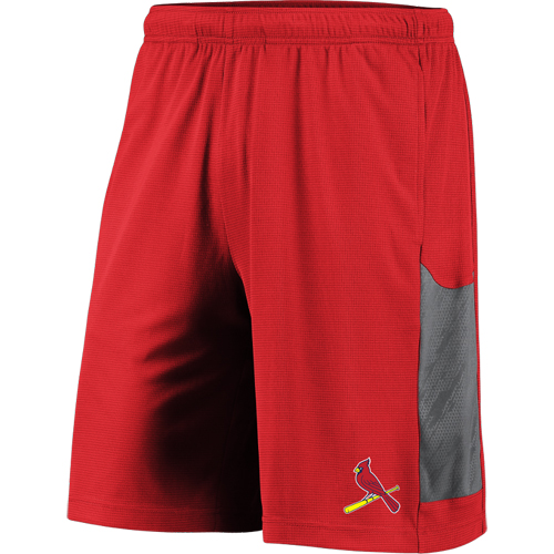 Men's Majestic Red/Gray St. Louis Cardinals TX3 Cool Tech Shorts