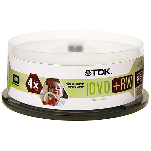 TDK 48332 4x 4.7GB DVD+RW (25-ct spindle)