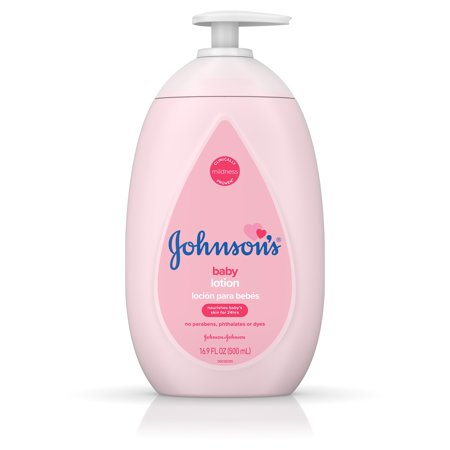 (2 Pack) Johnson's Moisturizing Pink Baby Lotion with Coconut Oil, 16.9 fl. (Best Coconut Oil Brand For Baby)