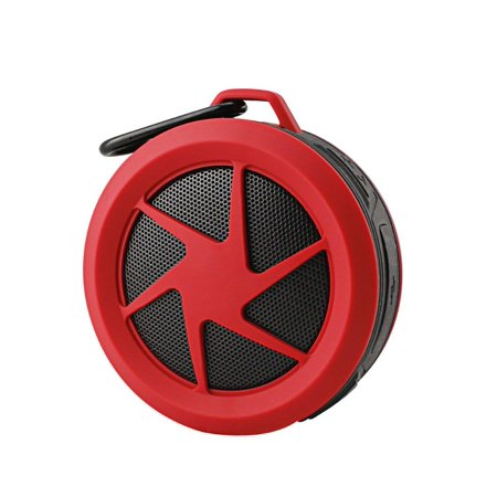 Mini Water Proof Wireless Bluetooth Speaker for LG K20 V,K20V, TP260, K20  plus, Fortune, Stylo 3, Stylus 3, LS777, Phoenix 3 (Red)