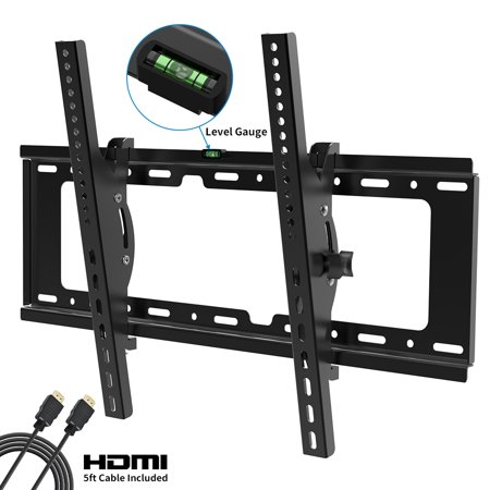 Tilt TV Wall Mount Bracket Low Profile for Most 37-70 Inch LED LCD OLED Plasma Flat Curved Screen TVs,Tilting Mount Fits 16-24 Inch Wood Studs Max VESA 600x400mm Holds up to 132lbs Streamlight Low Profile Mount
