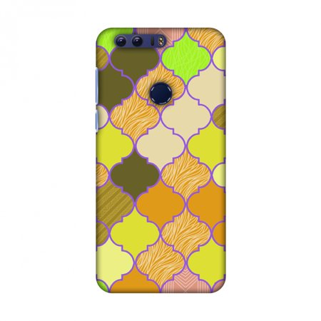Orange Stained Glass (Huawei Honor 8 Case - Stained glass- Chocolate orange, Hard Plastic Back Cover, Slim Profile Cute Printed Designer Snap on Case with Screen Cleaning Kit )