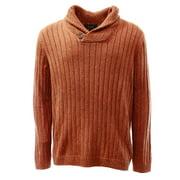 Tasso Elba NEW Orange Rust Neps Mens Size Small S Shawl Collar Sweater