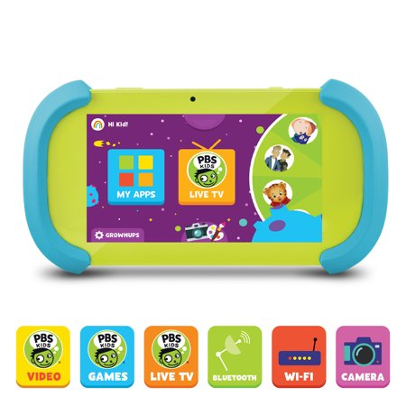"PBS KIDS Playtime Pad+ 7"" HD Kid-Safe Tablet + Live TV (PBSKD7001)"