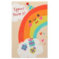 American greetings walmart american greetings rainbow 3rd birthday card with glitter m4hsunfo