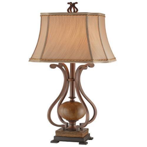 Stein World Operating Company Copperfield Metal Scroll Table Lamp