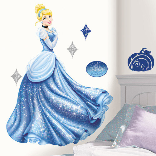 Room Mates Popular Characters Disney Princess Cinderella Glamour Giant Wall Decal