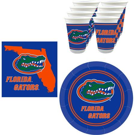 Florida Gators Party Supplies - 48 pieces (Serves 16)