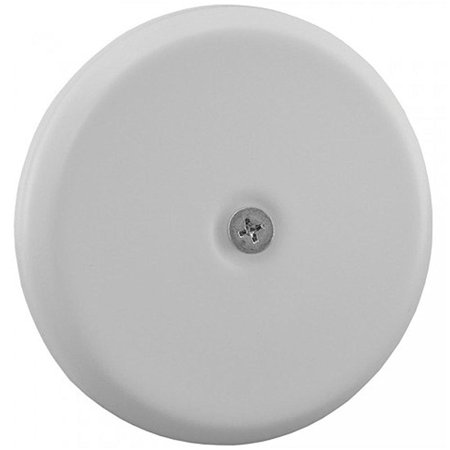 """jones stephens c95004 high impact plastic 4 1/4"""" flat design cleanout cover plate, small, white"""