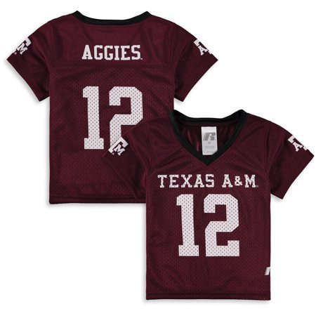 Toddler Russell Maroon Texas A&M Aggies Replica Football Jersey (Custom Texans Jersey)