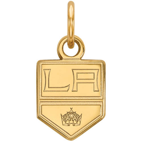 LogoArt NHL Los Angeles Kings 14kt Gold-Plated Sterling Silver Extra Small Pendant