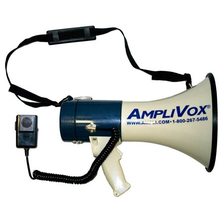 25 Watt Piezo Dynamic Megaphone with Detachable Coil Cord Mic