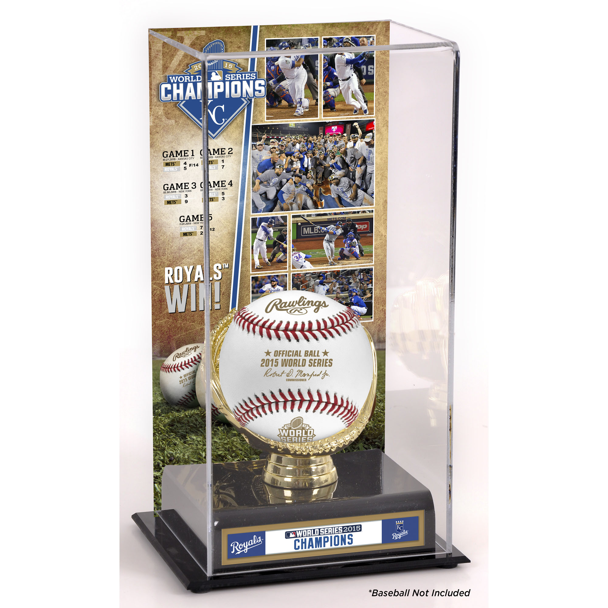 Kansas City Royals Fanatics Authentic 2015 MLB World Series Champions Gold Glove Display Case with Image - No Size
