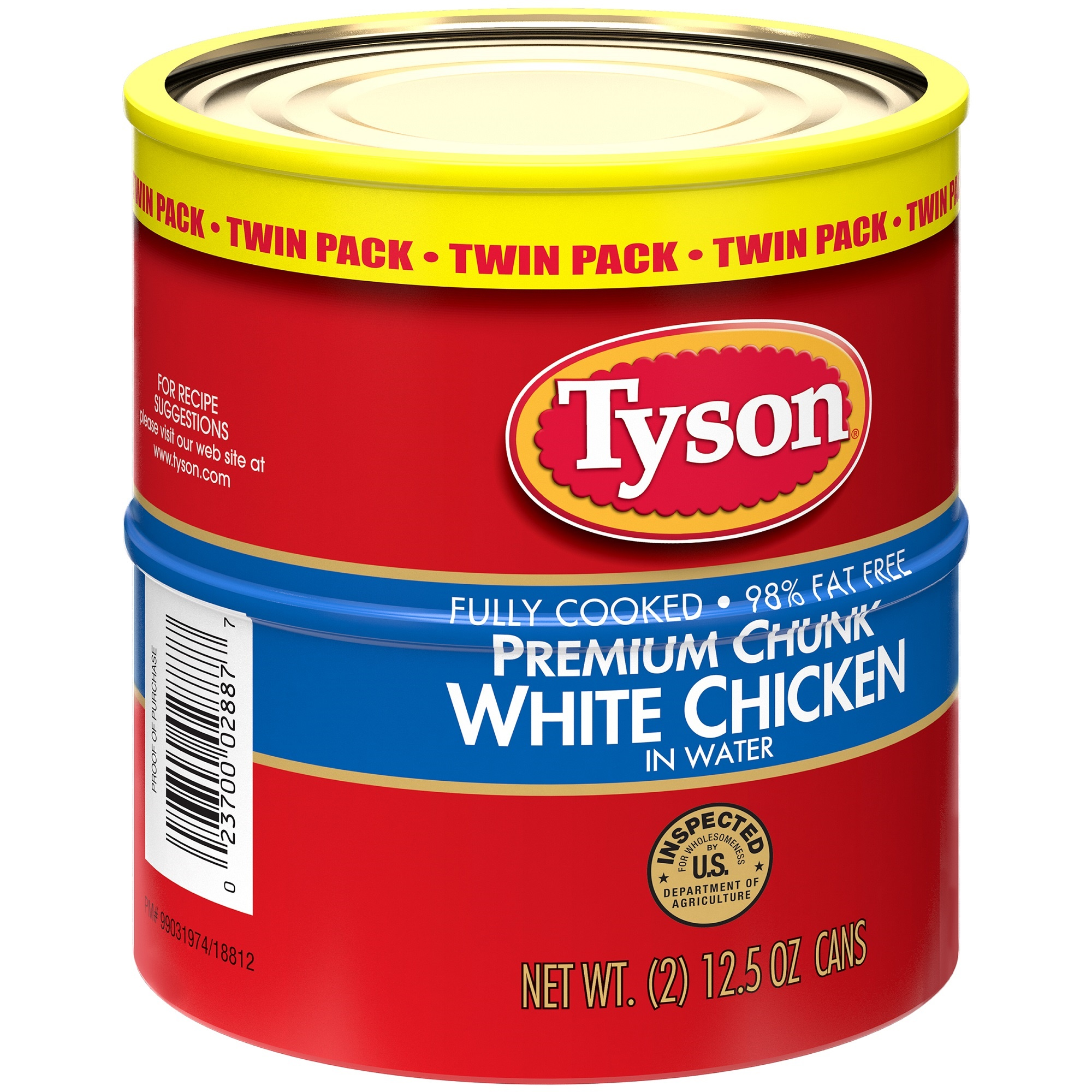 Tyson Premium Chunk White Chicken Twin Pack, 12.5 oz