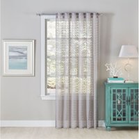 Cloud9 Design Sheer Curtain Panel with Silver Scatter Print