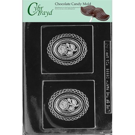 Cybrtrayd Life of the Party F053 Spring Bouquet Plaque Flower Chocolate Candy Mold in Sealed Protective Poly Bag Imprinted with Copyrighted Cybrtrayd Molding Instructions -