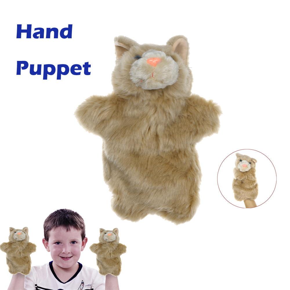 Mosunx Cute Cartoon Animal Doll Kids Glove Hand Puppet Plush Finger Toys Cat