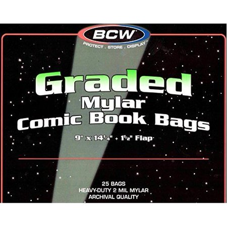 - 25 BCW Graded Mylar Comic Book Bags - Lasts Indefinitely