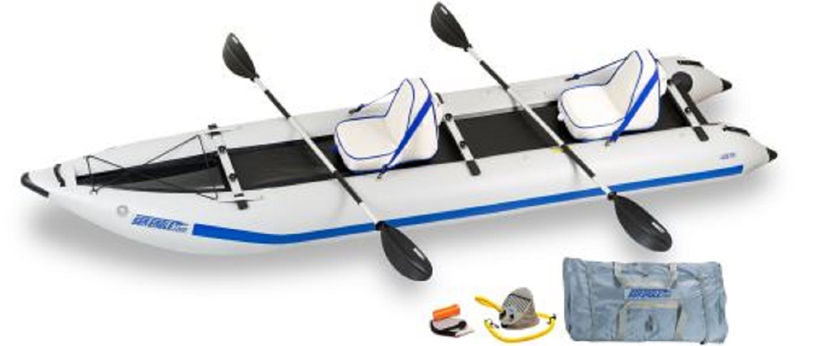 Click here to buy Sea Eagle Paddleski Catamaran Deluxe Kayak Package by Sea Eagle.