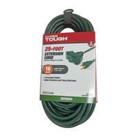 Hyper Tough 25FT 16AWG 3 Prong Green Triple Outlet Outdoor Extension Cord