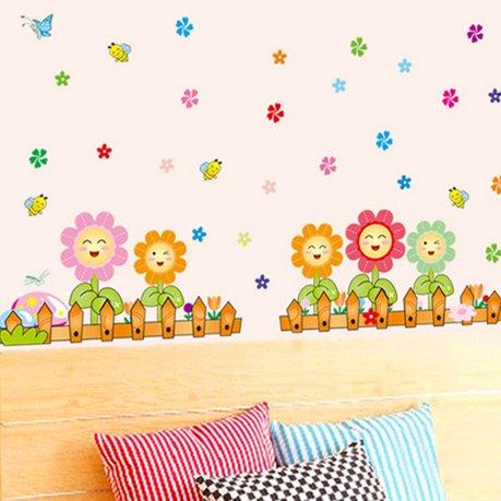 cl ture amovible motif fleur mural bricolage papier peint 70 x 50 cm. Black Bedroom Furniture Sets. Home Design Ideas