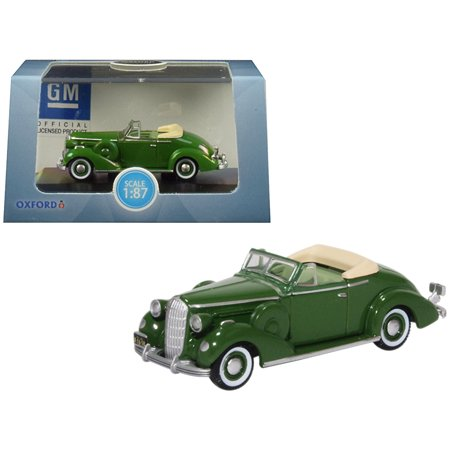 1936 Buick Special Convertible Coupe Balmoral Green 1/87 (HO) Scale Diecast Model Car by Oxford Diecast (Buick Special Convertible)