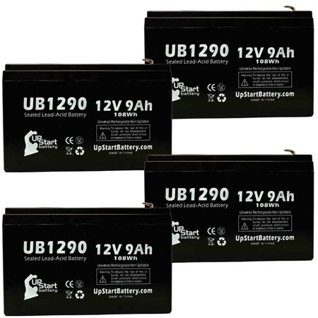 4x Pack - Tripp Lite SMART2200VSXL Battery Replacement - UB1290 Universal Sealed Lead Acid Battery (12V, 9Ah, 9000mAh, F1 Terminal, AGM, SLA) - Includes 8 F1 to F2 Terminal Adapters - image 4 de 4