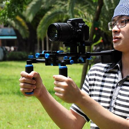 Studio DSLR Rig Video Camera Camcorder Shoulder Mount Stabilizer w/Dual Handgrip - image 4 de 9