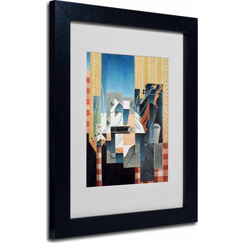 "Trademark Fine Art ""Still Life With Violin and Guitar"" Matted Framed Art by Juan Gris, Black Frame"