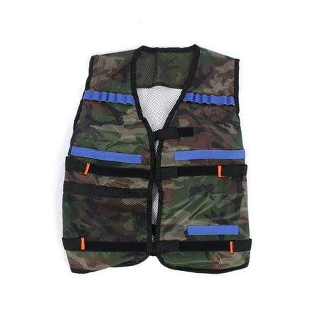Tactical Vest, N-Strike Elite Series Jacket, Adjustable Refill Gun Bullet Vest, Durable Kids Toy EVA Bullet Storage Pocket Vest for Outdoor Gun Wars Activities, Fashion Cool Gift for N-Strike (Nerf N Strike Elite Tactical Vest Kit)