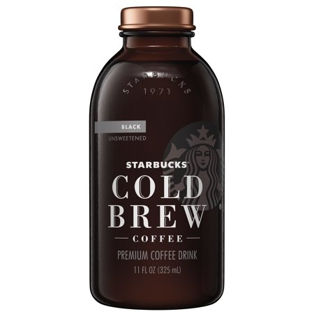 (6 Count) Starbucks Cold Brew Coffee, Black Unsweetended, 11 Fl (Starbucks Unsweetened Iced Coffee 48 Fl Oz)