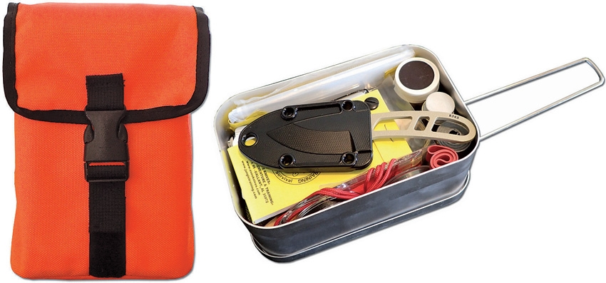 Click here to buy ESEE LARGE-TIN-KIT-OD Survival Kit In Mess Kit Fishing Kit Green by ESEE.