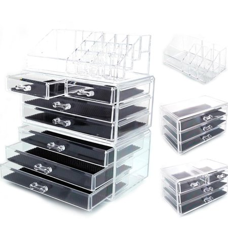Ktaxon Acrylic Makeup Case Cosmetics Organizer  Drawer Storage