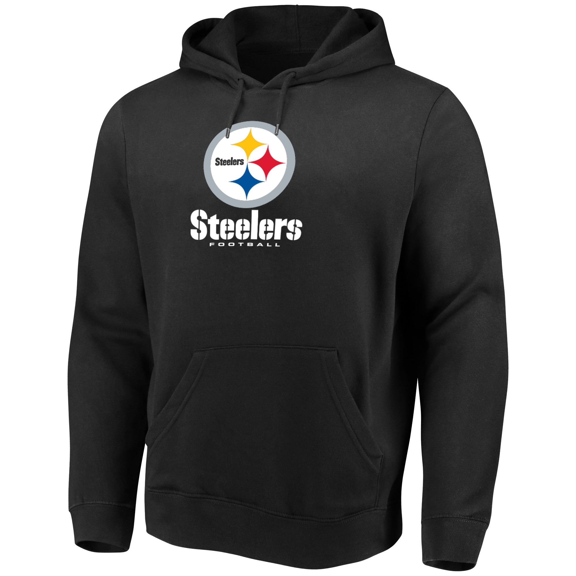 Men's Majestic Black Pittsburgh Steelers Our Team Pullover Hoodie