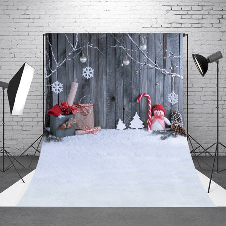 NK HOME Photography Backdrops Christmas Holiday Party Decoration Xmas Tree Oraments Gifts Vinyl Fabric Studio Photo Video Background Screen - Cardboard Tree Props