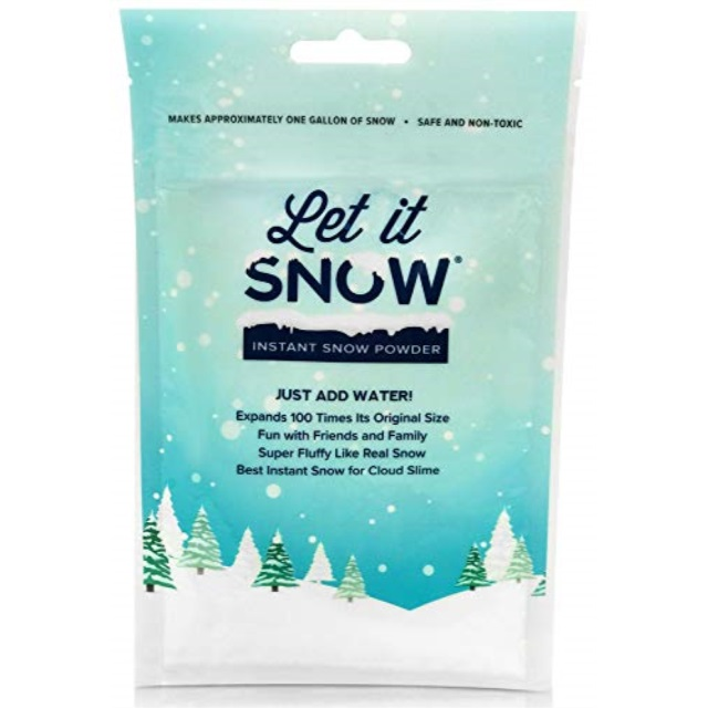 Let it Snow Slime Kit Slime Container with Lid and Instant Snow Powder for Slime - Cloud Slime Supplies Best Fake Snow for Slime