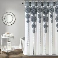 """Stripe Medallion 72""""x72"""" Shower Curtain"""