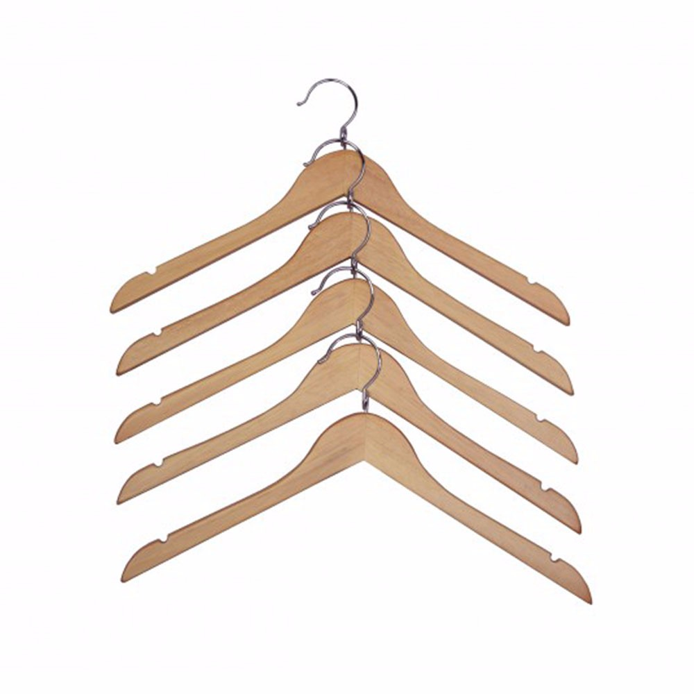 Proman Products Kascade Wooden Hanger With A Loop On The Hook And Shoulder Notches In Natural