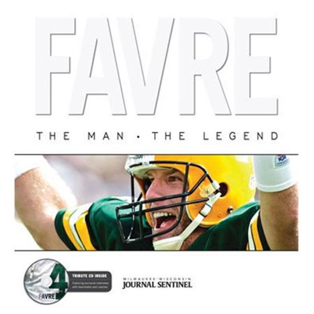 Athlon Sports CTBL-022137 Green Bay Packers Favre - The Man, The Legend with CD- Hardcover Book 2008 - Brett Favre Brett Favre Td Record