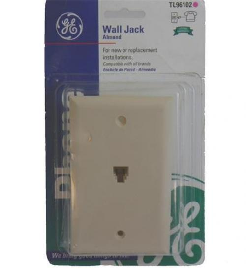 GE TL96102 Telephone Wall Jack (4-conductor, Almond)