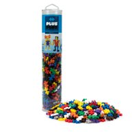 Plus-Plus - 240 Piece Basic Color Mix Building Set Play Tube