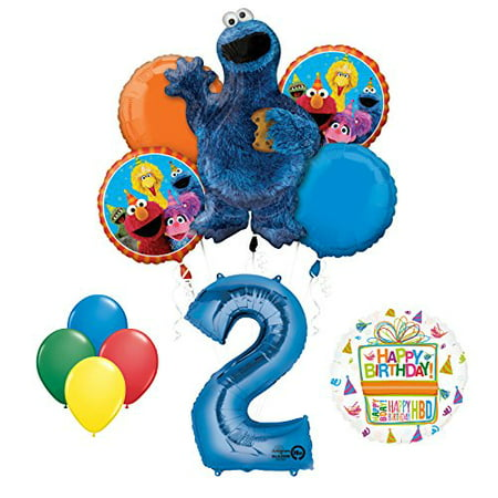 Cookie Monsters Sesame Street 2nd Birthday party supplies - Cookie Monster Party Ideas
