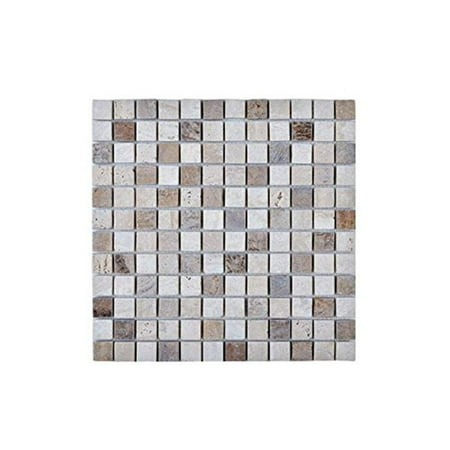 Mosaic with Stone Wall Tile, Beige & Brown (Multicolor Mosaic Tile)