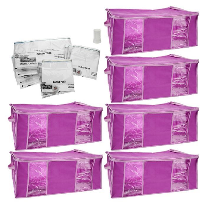 SuperPack 6 Jumbo Totes with (10) Compression Bags