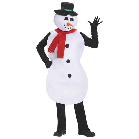 Snowman Tunic Adult Halloween Costume, 1 Size
